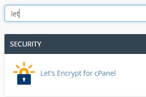 User Guide - Let's Encrypt for cPanel